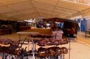 Carnes a la brasa en la Feria de Vejer de la Frontera